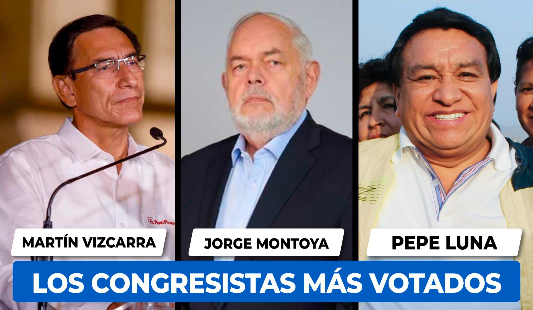 Pepe Luna Congresista más votos